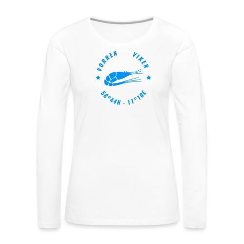 Vorren Logo MODERN [Blue] - Långärmad premium-T-shirt dam