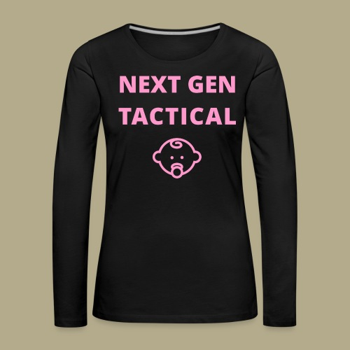 Tactical Baby Girl - Vrouwen Premium shirt met lange mouwen