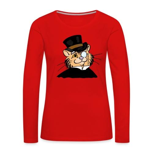 Gatto nonno - Maglietta Premium a manica lunga da donna