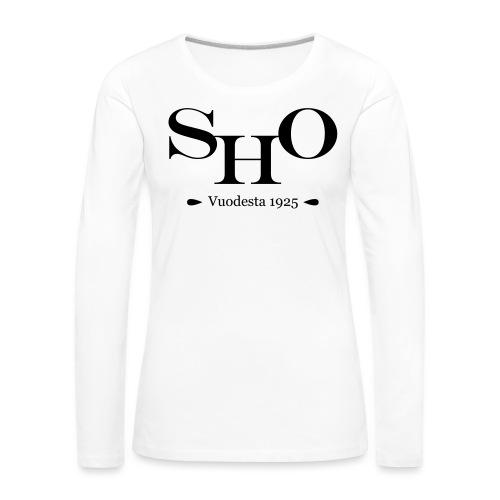 SHO - Naisten premium pitkähihainen t-paita