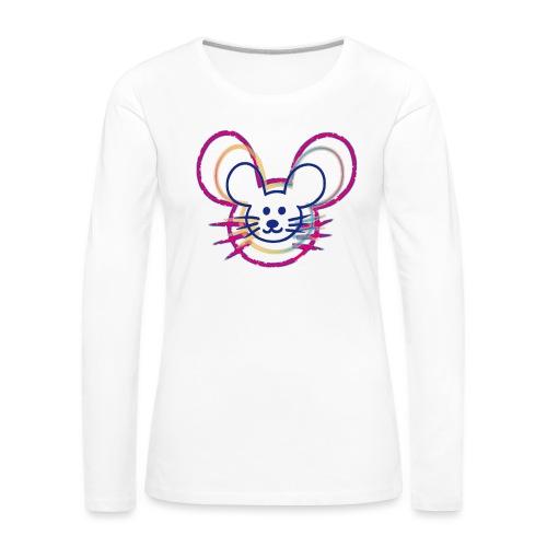 kleines Mausgesicht/Mäuse - Frauen Premium Langarmshirt