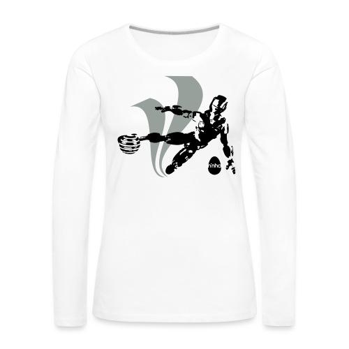 Football Robot - Maglietta Premium a manica lunga da donna