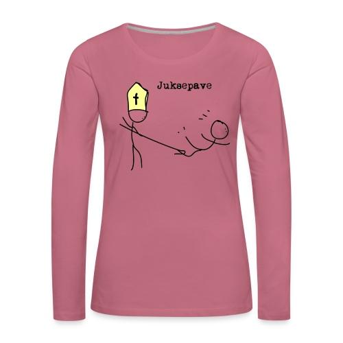 juksepave png - Premium langermet T-skjorte for kvinner