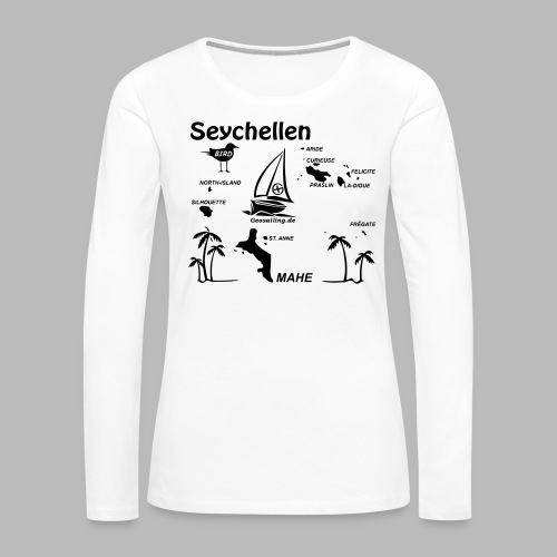Seychellen Insel Crewshirt Mahe etc. - Frauen Premium Langarmshirt