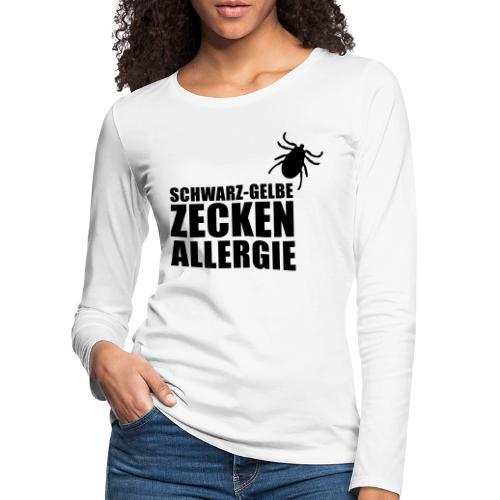 Schwarz-Gelbe Zeckenallerie - Frauen Premium Langarmshirt