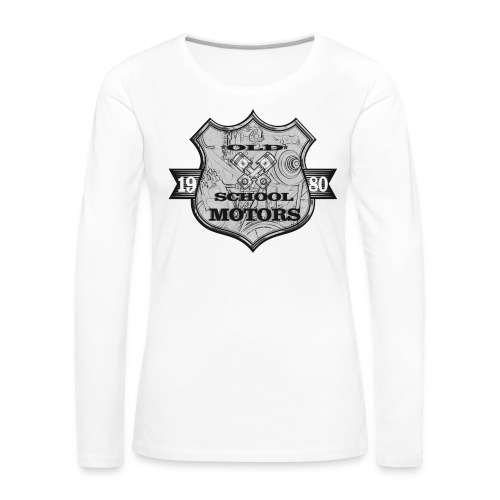 Old School Motors - Frauen Premium Langarmshirt