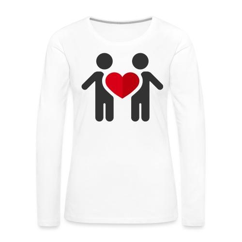 Chemise amour - T-shirt manches longues Premium Femme