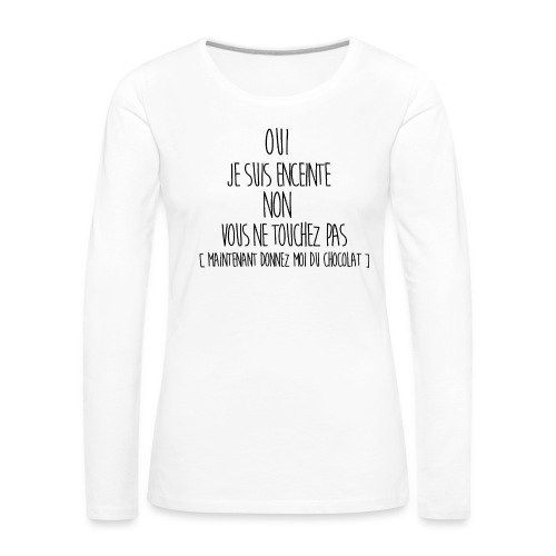 T-Shirt-Femme-Enceinte-2 - T-shirt manches longues Premium Femme
