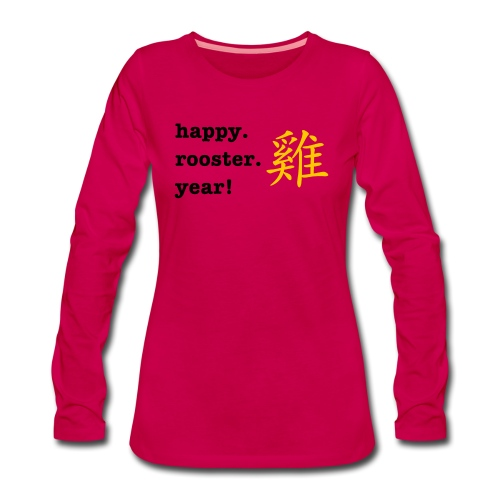 happy rooster year - Women's Premium Longsleeve Shirt