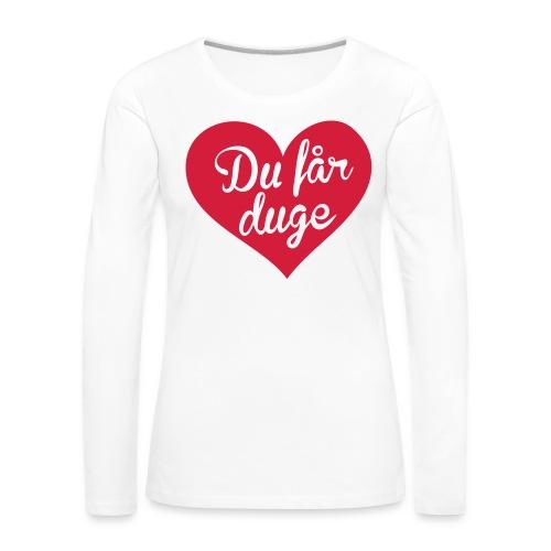 Ekte kjærlighet - Det norske plagg - Premium langermet T-skjorte for kvinner