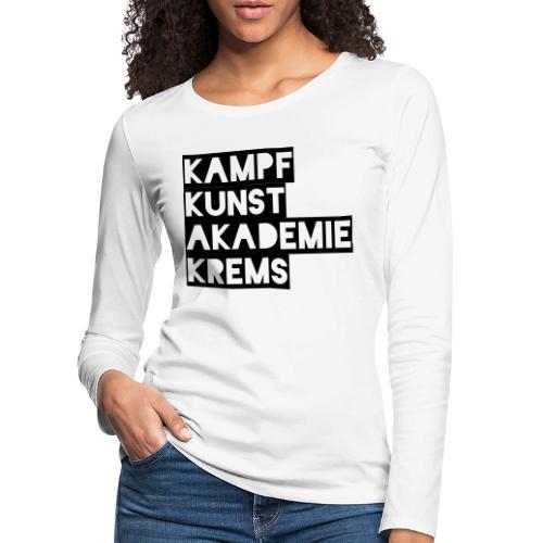 KKA 2016 lifestyle back2 - Frauen Premium Langarmshirt