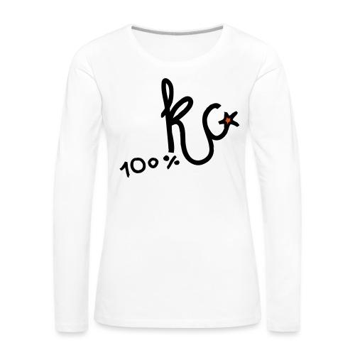 100%KC - Vrouwen Premium shirt met lange mouwen