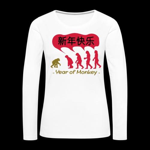 kung hei fat choi monkey - Women's Premium Longsleeve Shirt