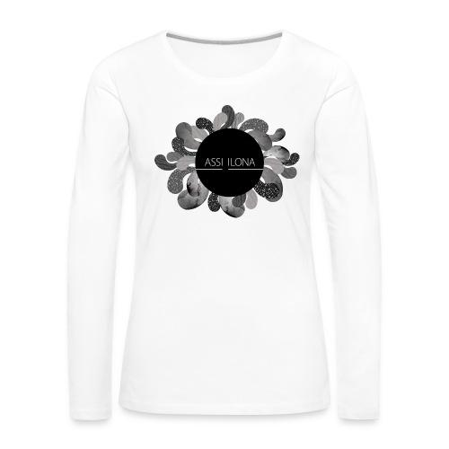 Assi Ilona toppi - Naisten premium pitkähihainen t-paita