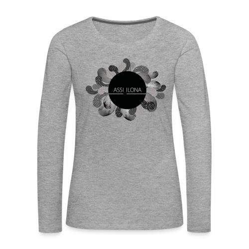 Assi Ilona naisten huppari - Naisten premium pitkähihainen t-paita