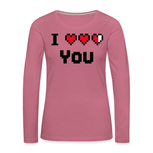 I pixelhearts you - Vrouwen Premium shirt met lange mouwen