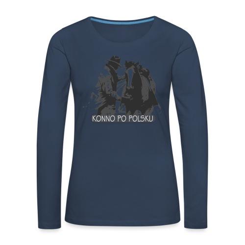 horse2 - Koszulka damska Premium z długim rękawem