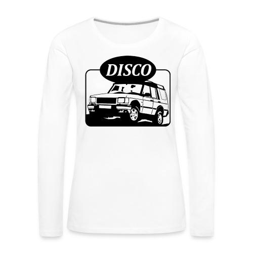 landroverdisco01dblack - Premium langermet T-skjorte for kvinner