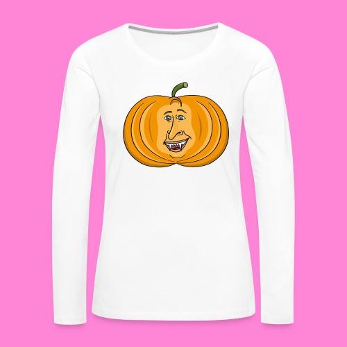 Rick pumpkin - Vrouwen Premium shirt met lange mouwen