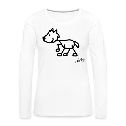 wolf - Frauen Premium Langarmshirt