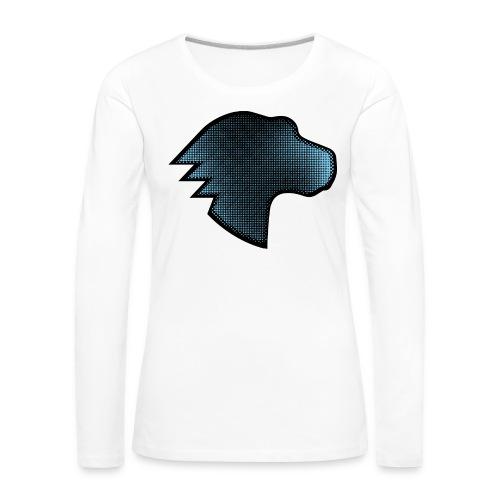 MDN Blue Gradient Dino - Women's Premium Longsleeve Shirt
