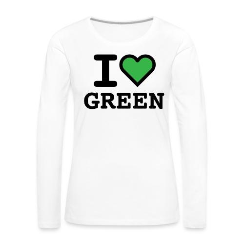 i-love-green-2.png - Maglietta Premium a manica lunga da donna