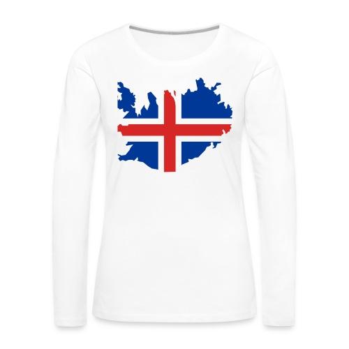 Iceland - Vrouwen Premium shirt met lange mouwen