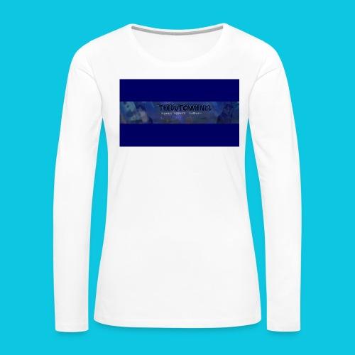 buismat bleu - Vrouwen Premium shirt met lange mouwen