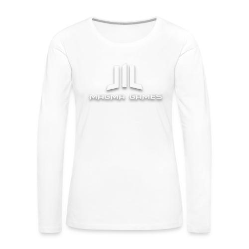 Magma Games mok zwart met - Vrouwen Premium shirt met lange mouwen