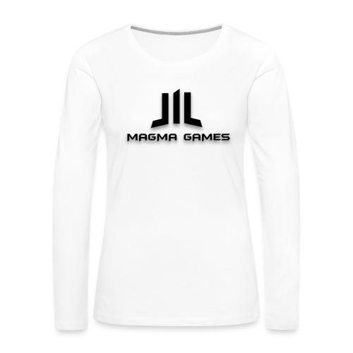 Magma Games kussen - Vrouwen Premium shirt met lange mouwen