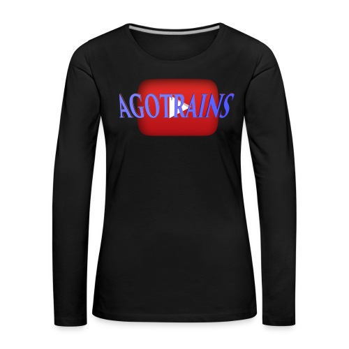 AGOTRAINS - Maglietta Premium a manica lunga da donna