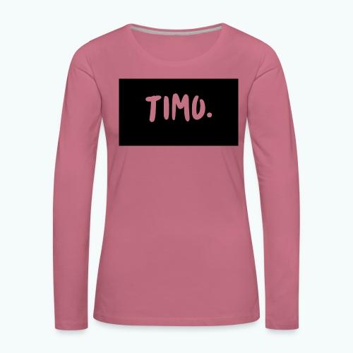 Ontwerp - Vrouwen Premium shirt met lange mouwen