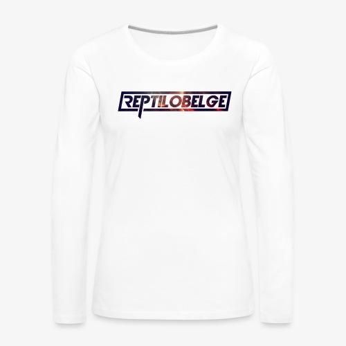 M1.2 Reptilobelge - T-shirt manches longues Premium Femme