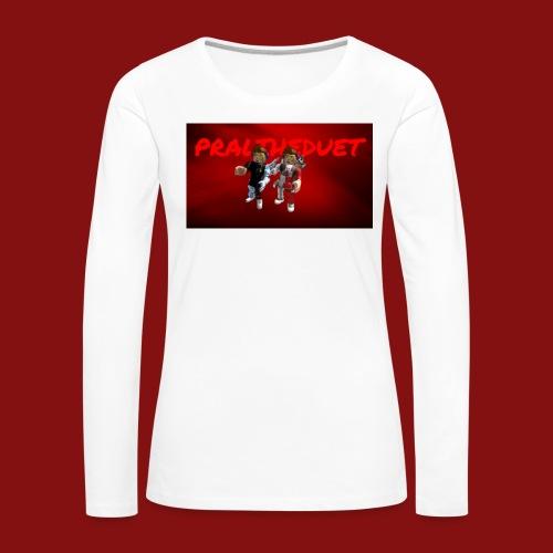 Pral - Långärmad premium-T-shirt dam