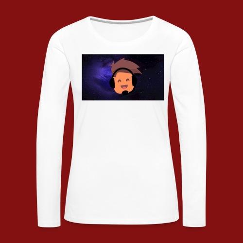 ProfilBild RymdBakgrund - Långärmad premium-T-shirt dam