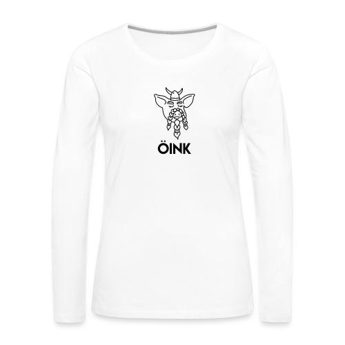 Oink Viking Pig - Women's Premium Longsleeve Shirt
