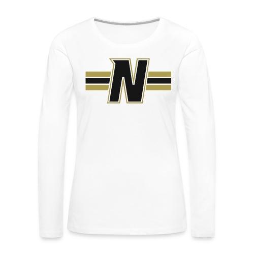 Nordic Steel Black N with stripes - Women's Premium Longsleeve Shirt