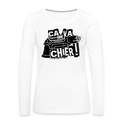 gastrogun - T-shirt manches longues Premium Femme