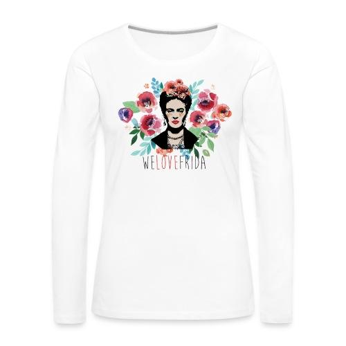 welovefrida - Maglietta Premium a manica lunga da donna