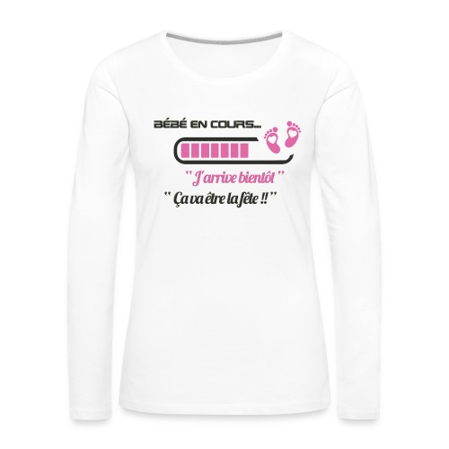Bébé en cours de téléchargement - T-shirt manches longues Premium Femme