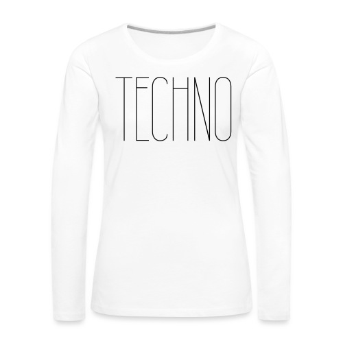 TECHNO #1 - Frauen Premium Langarmshirt