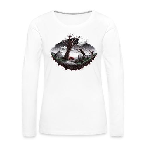 Horrorcontest scribblesirii - Dame premium T-shirt med lange ærmer