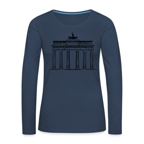 Brandenburger Tor Berlin Victoria Streitwagen - Frauen Premium Langarmshirt