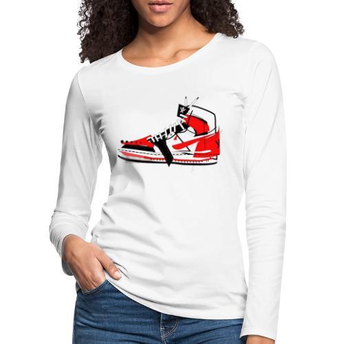 Destrukt my Shoes by MiZAl Touch Concept - T-shirt manches longues Premium Femme