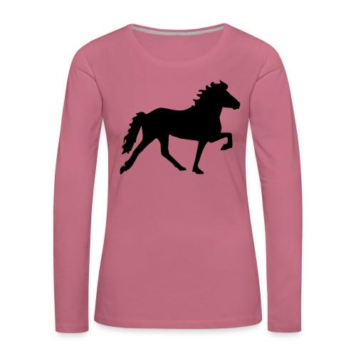 Tölter - Frauen Premium Langarmshirt