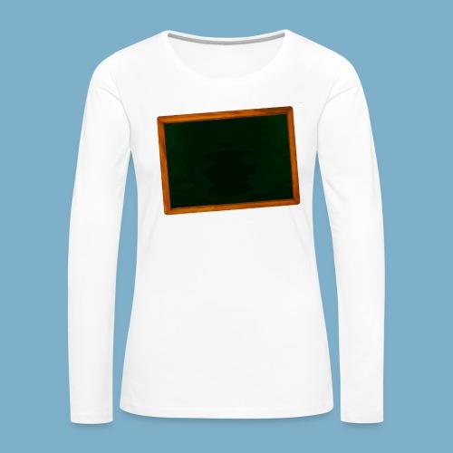 Schul Tafel - Frauen Premium Langarmshirt