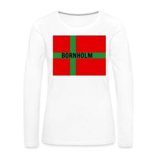 BORNHOLM - Dame premium T-shirt med lange ærmer