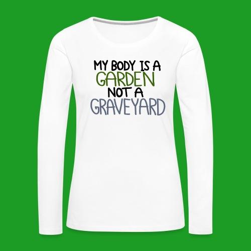 Vegan Body - T-shirt manches longues Premium Femme