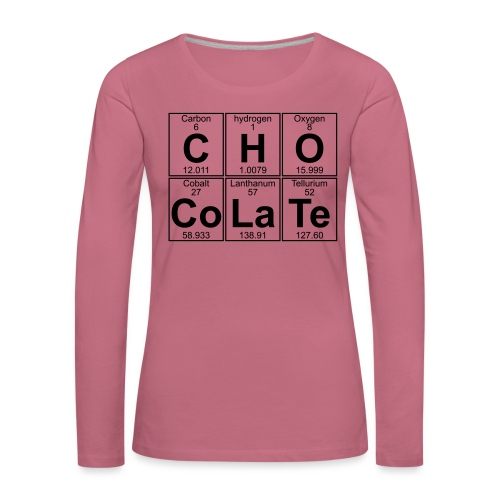 C-H-O-Co-La-Te (chocolate) - Full - Women's Premium Longsleeve Shirt