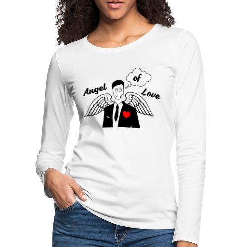 Angel of Love schwarz - Frauen Premium Langarmshirt